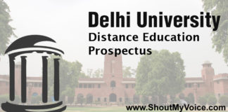 Find Delhi University Distance Education Prospectus