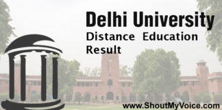 Find Delhi University Distance Education Result