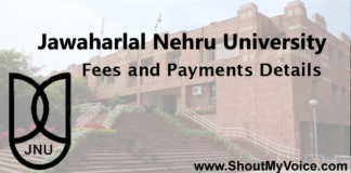jnu Fees and Payments Details