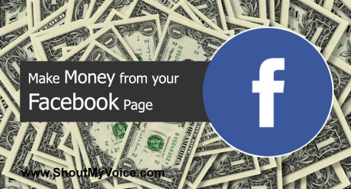 Make Money from your Facebook Page