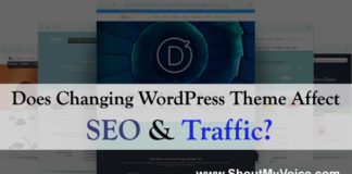 wordpress theme affect seo & traffic