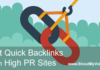 Quick Backlinks From High PR Sites
